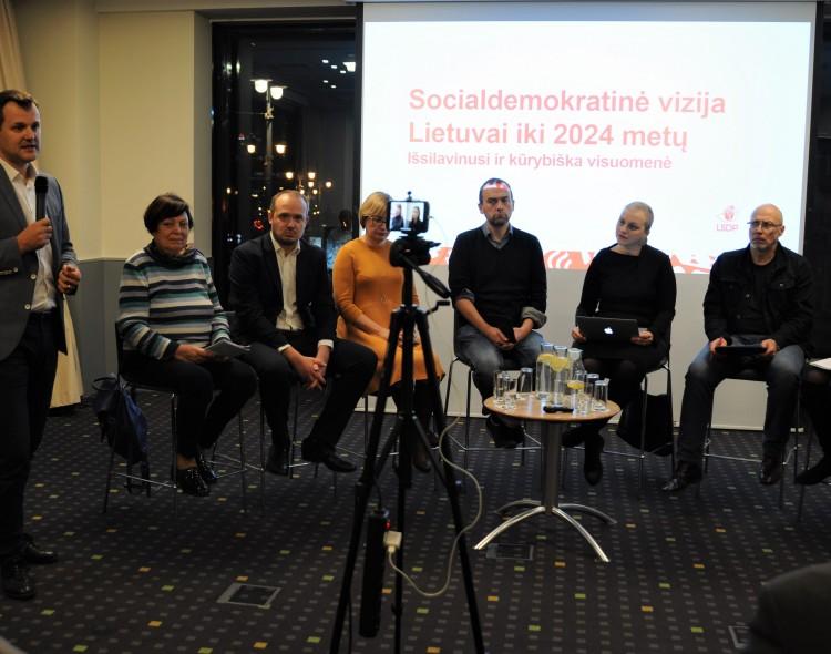 Socialdemokratinė vizija Lietuvai: nemokama švietimo sistema, visiems prieinama kultūra